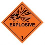 Hazard safety sign - Explosive 013